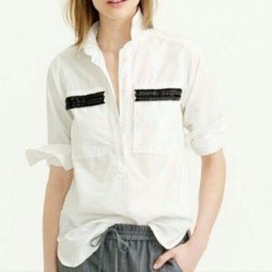 NWOT BOGO Free J Crew Sequin Pocket Shirt